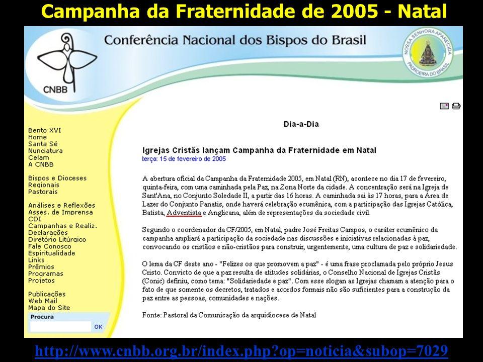 Campanha da Fraternidade de 2005 - Natal