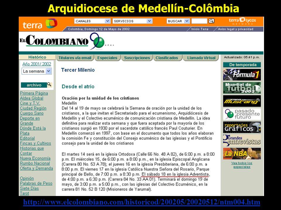 Arquidiocese de Medellín-Colômbia
