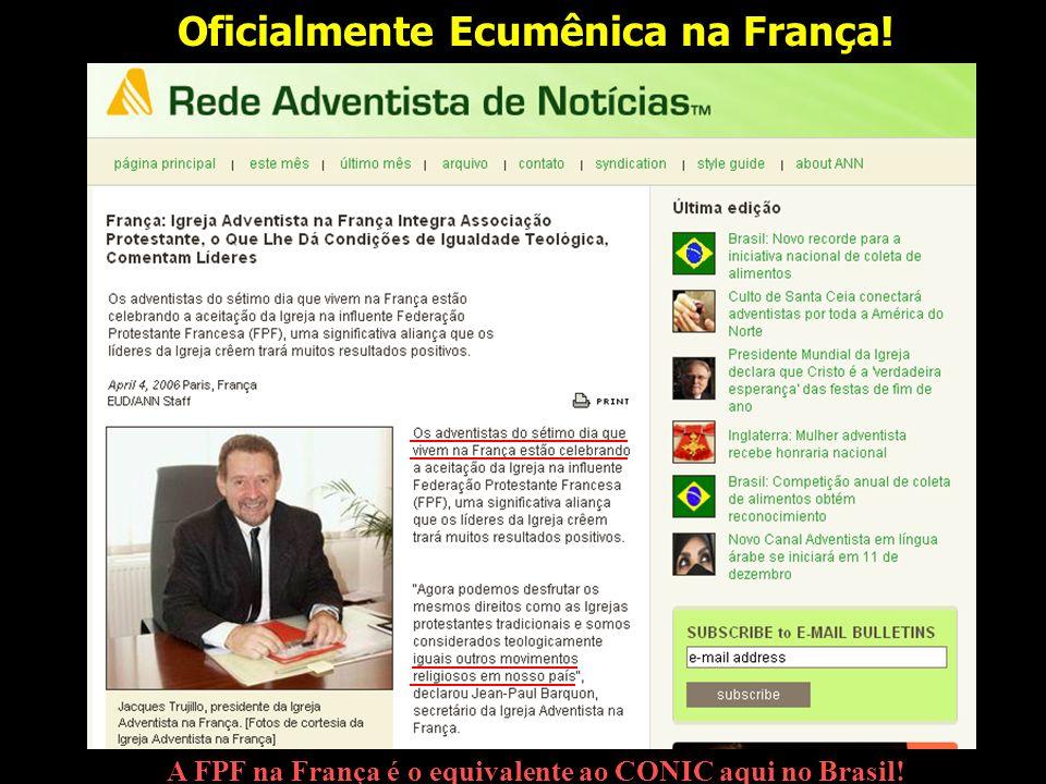 Oficialmente Ecumênica na França!