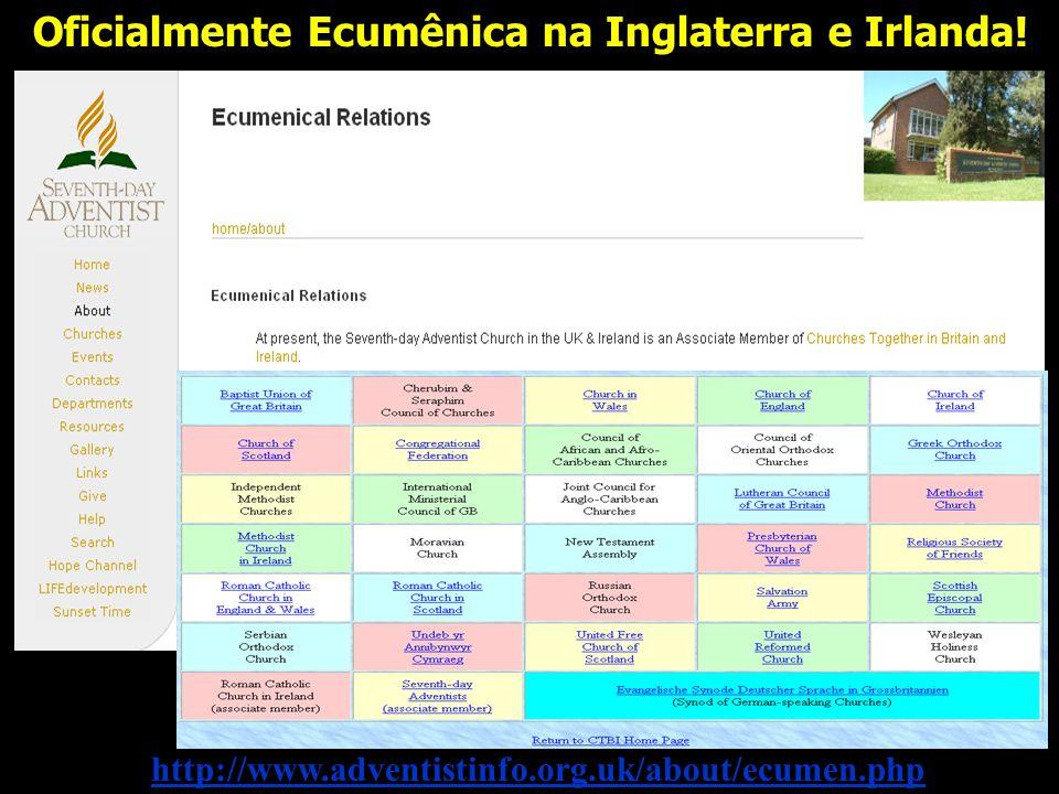 Oficialmente Ecumênica na Inglaterra e Irlanda!