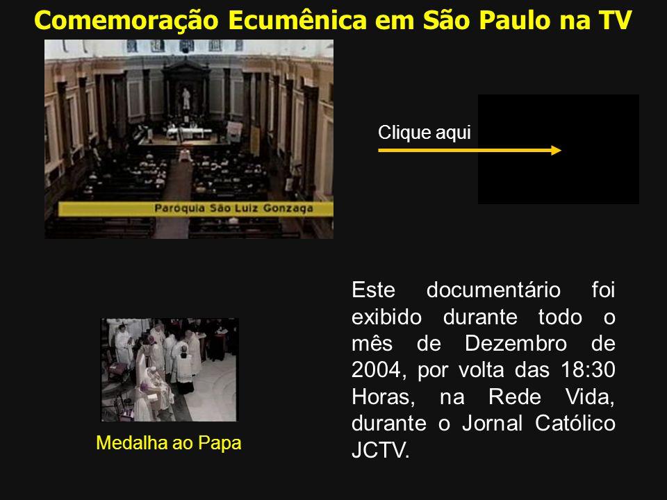 Comemoração Ecumênica em São Paulo na TV