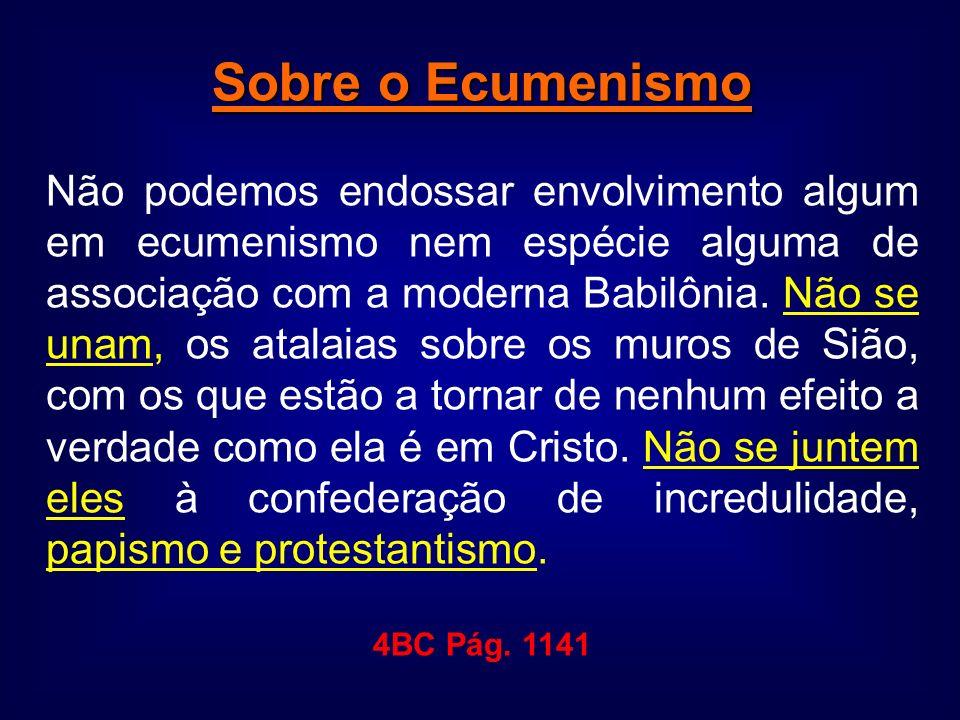 Sobre o Ecumenismo