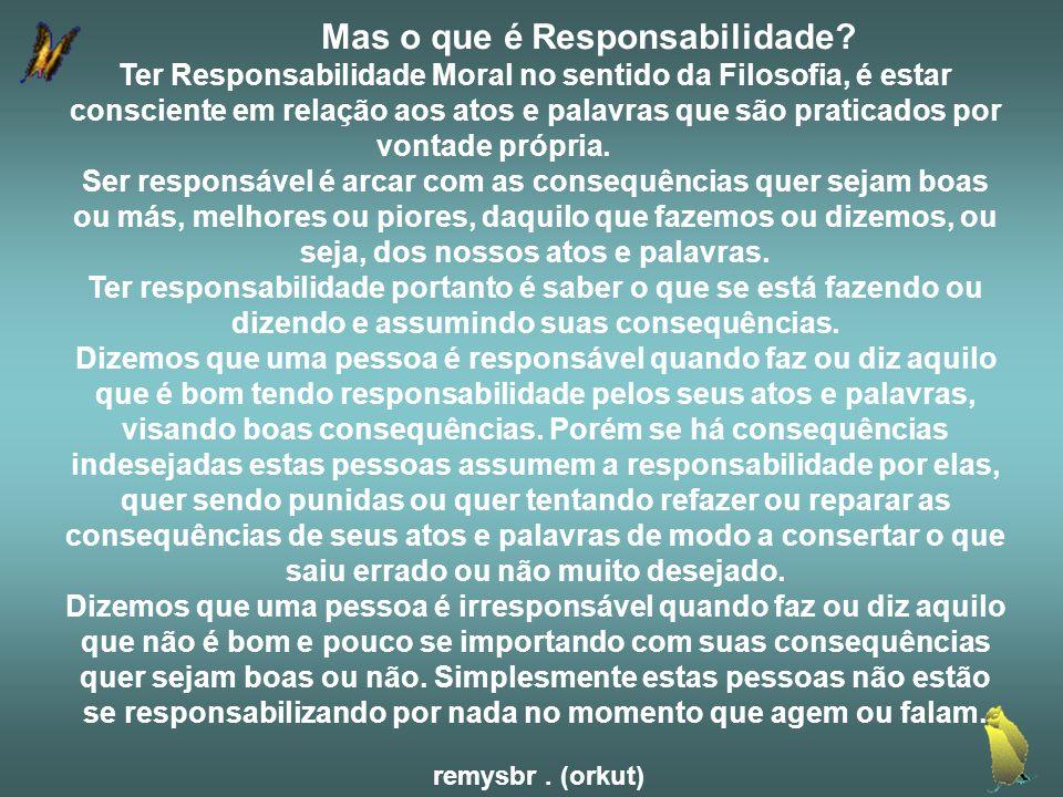 Mas o que é Responsabilidade