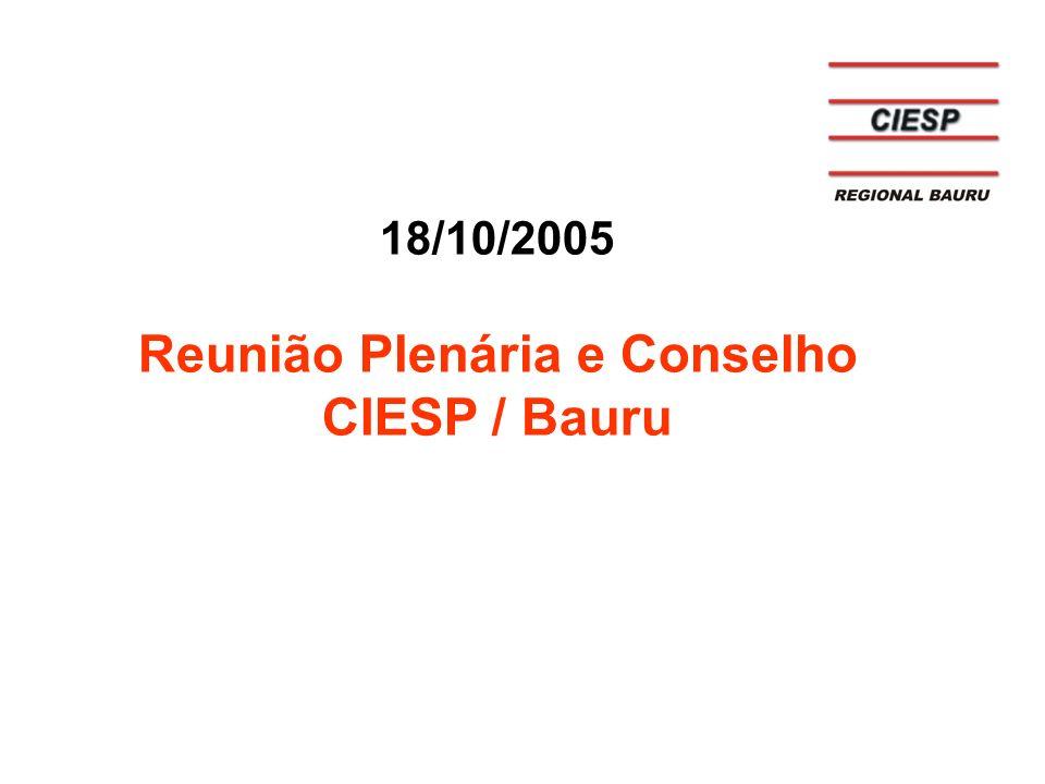 Reunião Plenária e Conselho