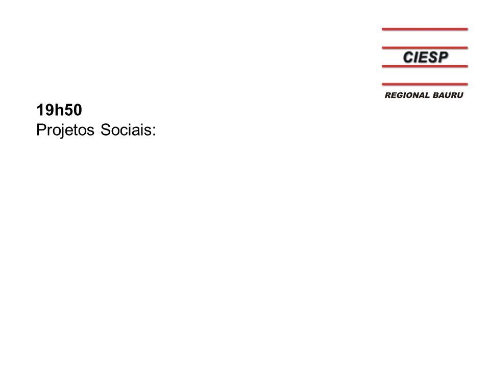 19h50 Projetos Sociais: