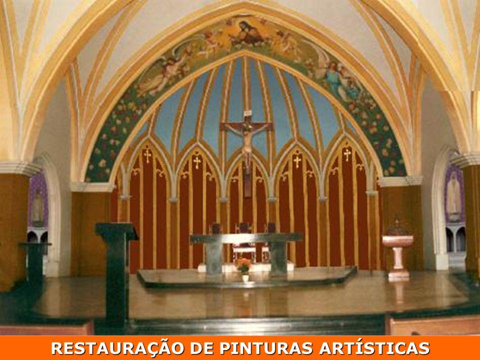 RESTAURAÇÃO DE PINTURAS ARTÍSTICAS