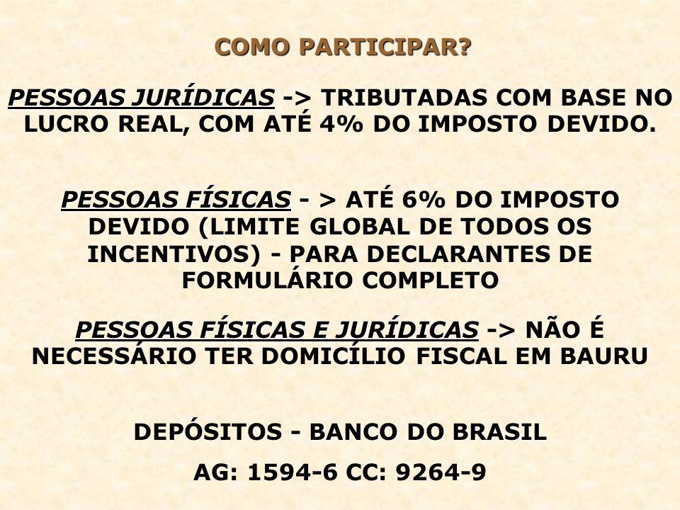DEPÓSITOS - BANCO DO BRASIL