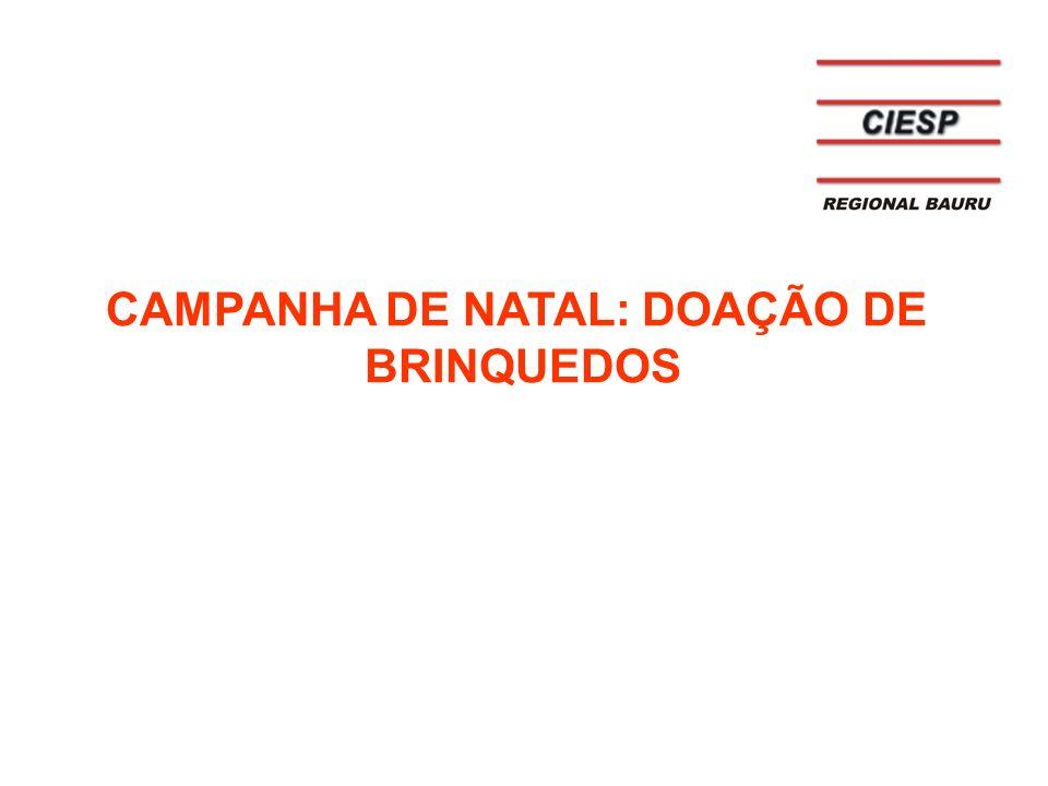 CAMPANHA DE NATAL: DOAÇÃO DE