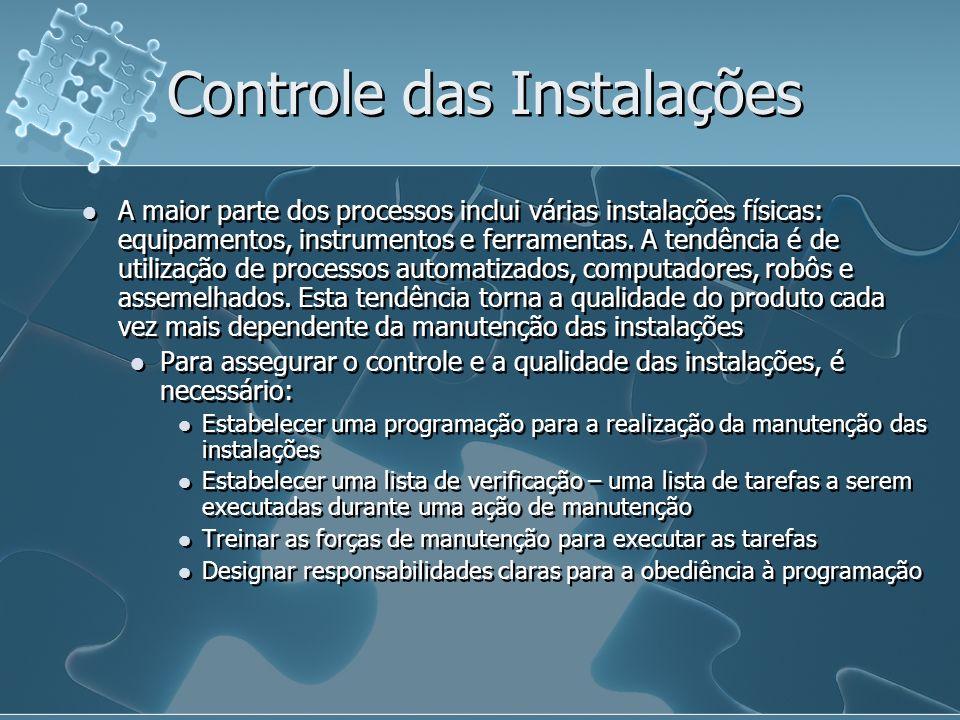 Controle das Instalações