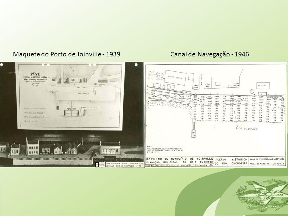 Maquete do Porto de Joinville - 1939
