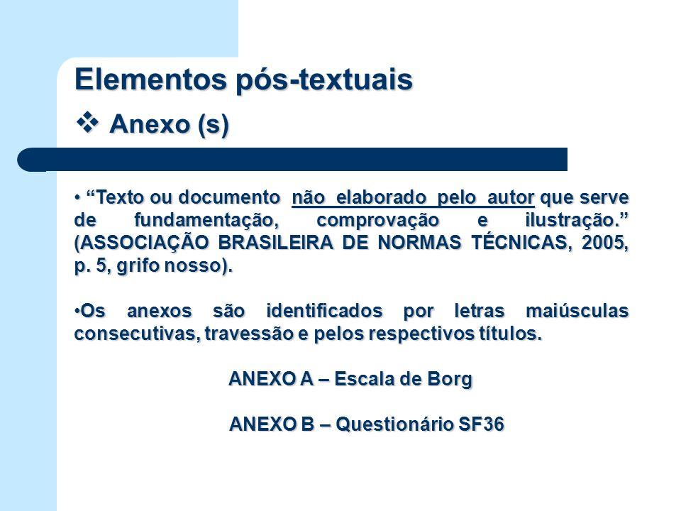 ANEXO B – Questionário SF36