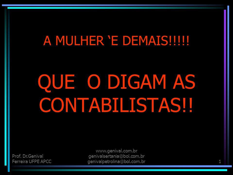 QUE O DIGAM AS CONTABILISTAS!!