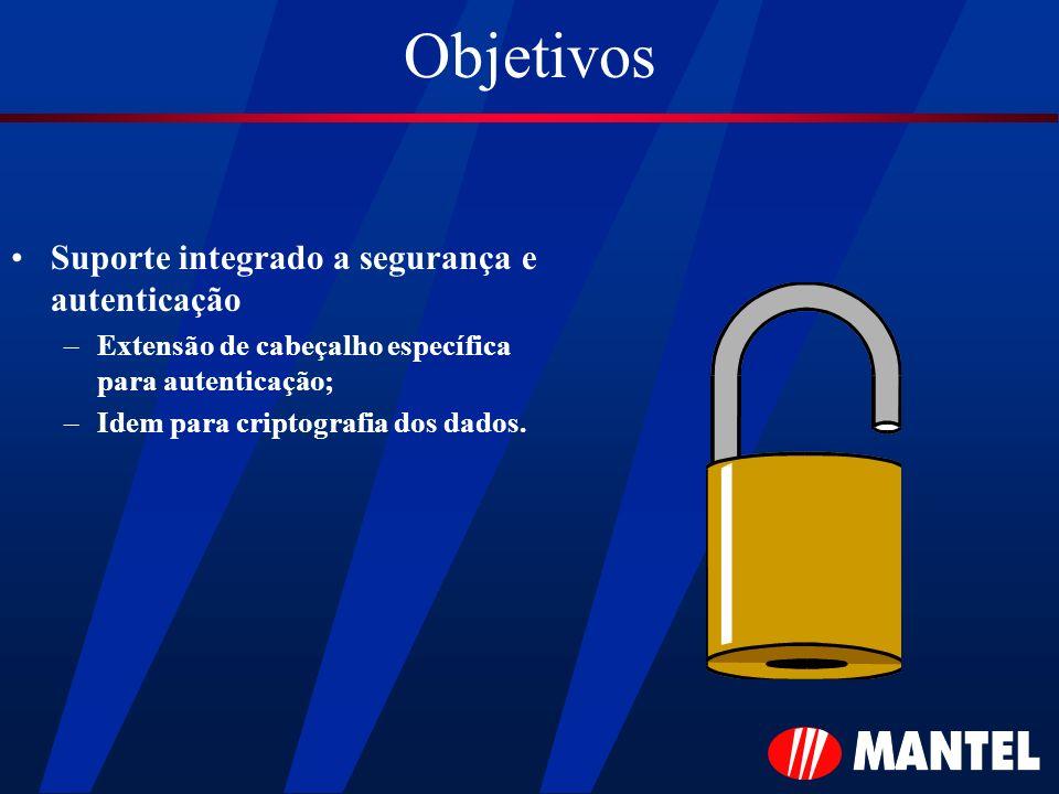 Objetivos Suporte integrado a segurança e autenticação