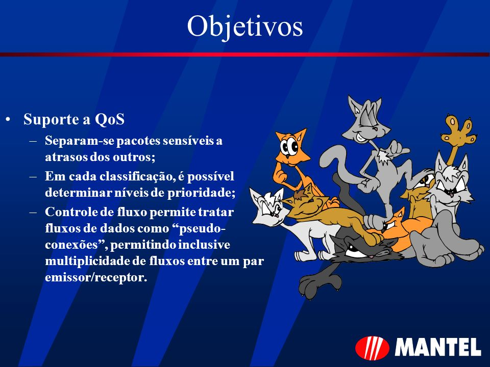 Objetivos Suporte a QoS