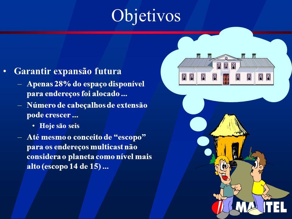 Objetivos Garantir expansão futura