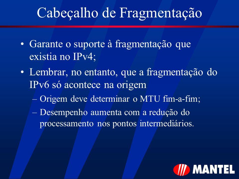 Cabeçalho de Fragmentação