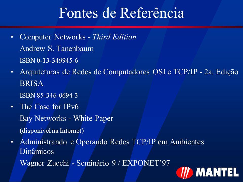 Fontes de Referência Computer Networks - Third Edition