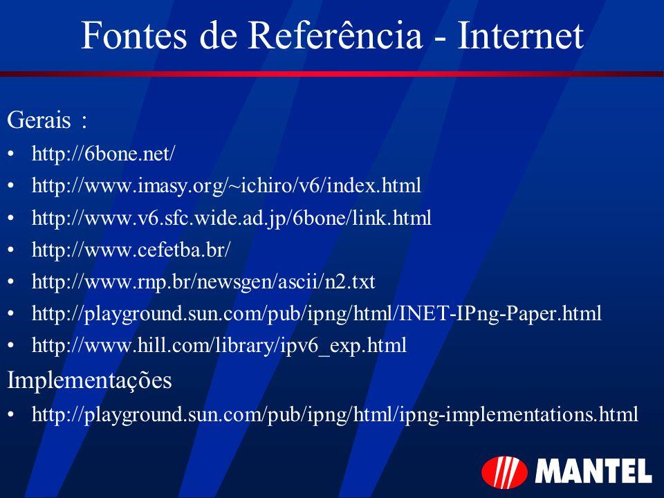 Fontes de Referência - Internet