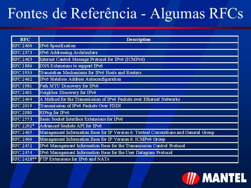 Fontes de Referência - Algumas RFCs