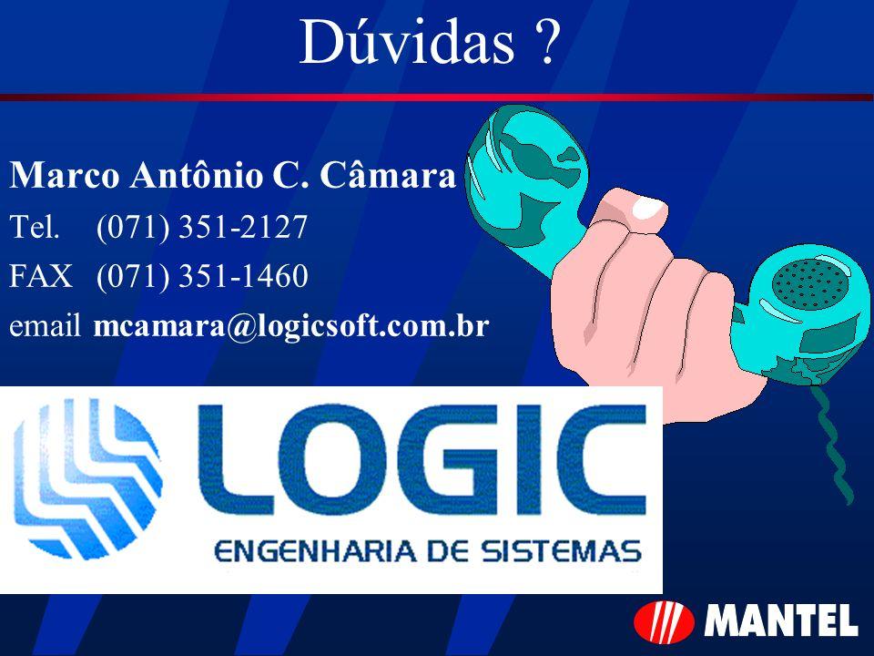 Dúvidas Marco Antônio C. Câmara Tel. (071) 351-2127
