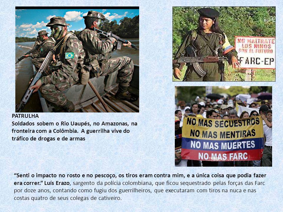 PATRULHA Soldados sobem o Rio Uaupés, no Amazonas, na fronteira com a Colômbia. A guerrilha vive do tráfico de drogas e de armas