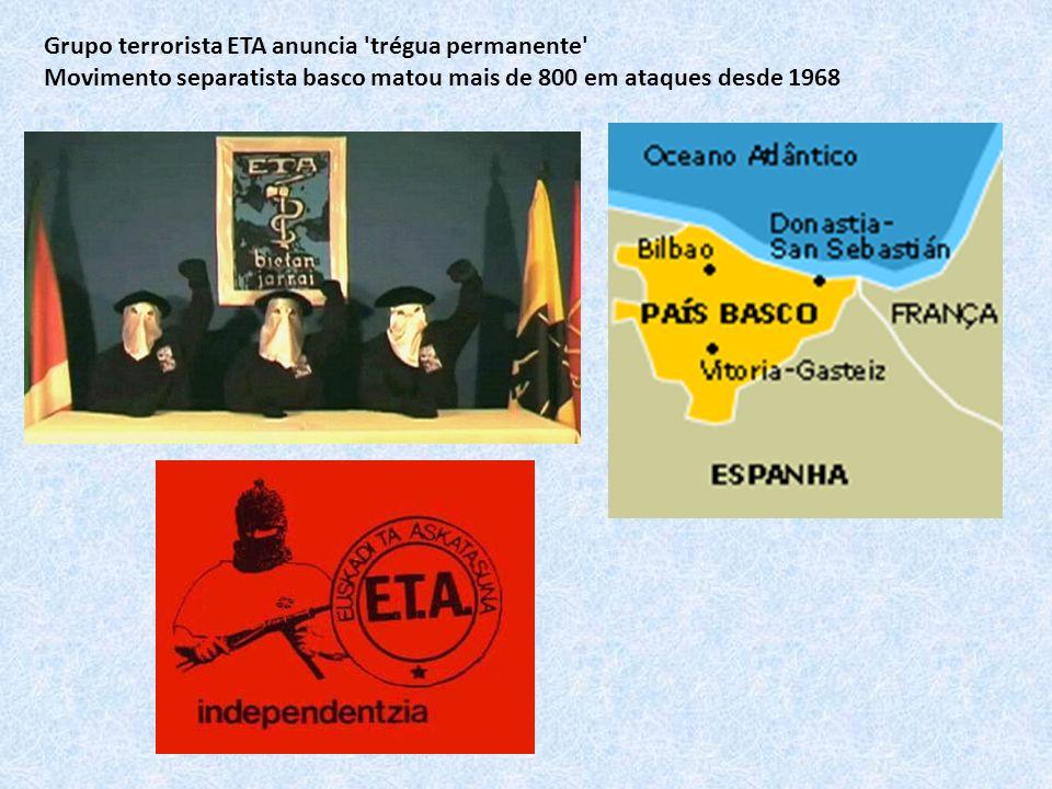 Grupo terrorista ETA anuncia trégua permanente