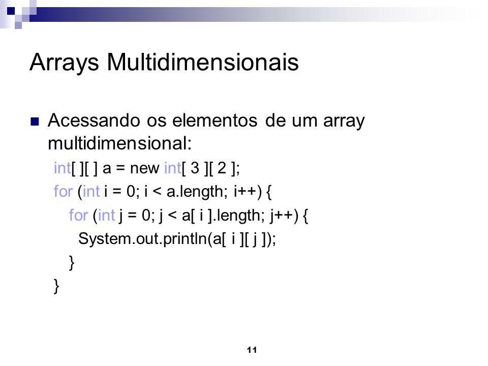 Arrays Multidimensionais