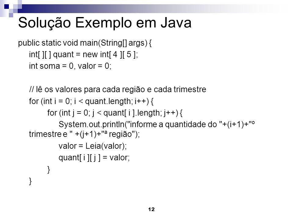 Solução Exemplo em Java