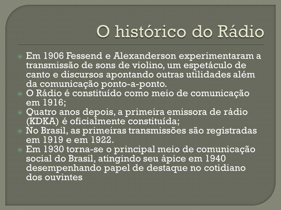 O histórico do Rádio