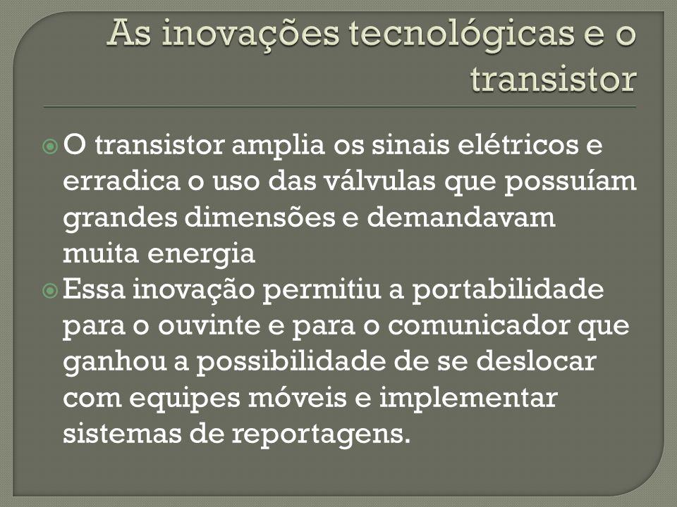 As inovações tecnológicas e o transistor