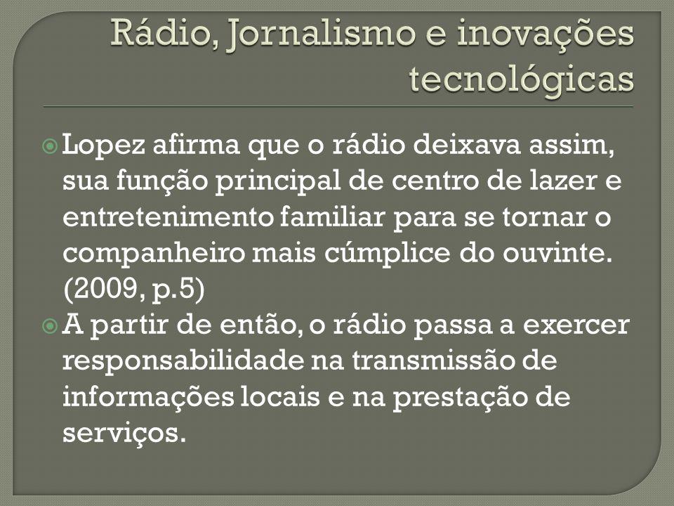 Rádio, Jornalismo e inovações tecnológicas