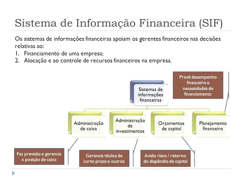 Sistema de Informação Financeira (SIF)