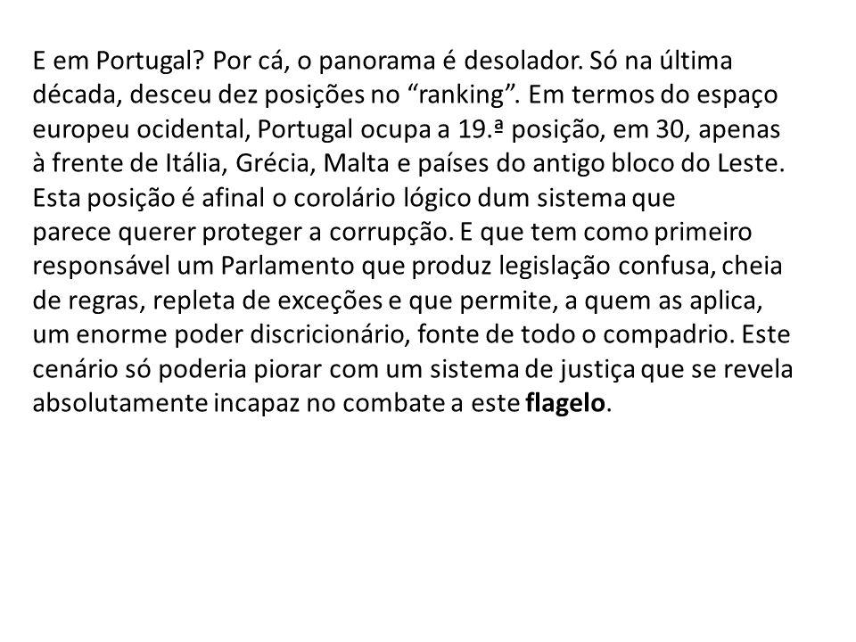 E em Portugal Por cá, o panorama é desolador. Só na última