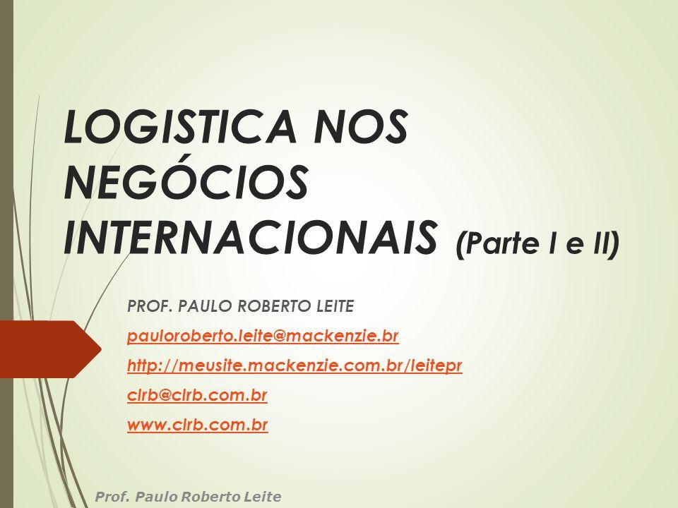 LOGISTICA NOS NEGÓCIOS INTERNACIONAIS (Parte I e II)