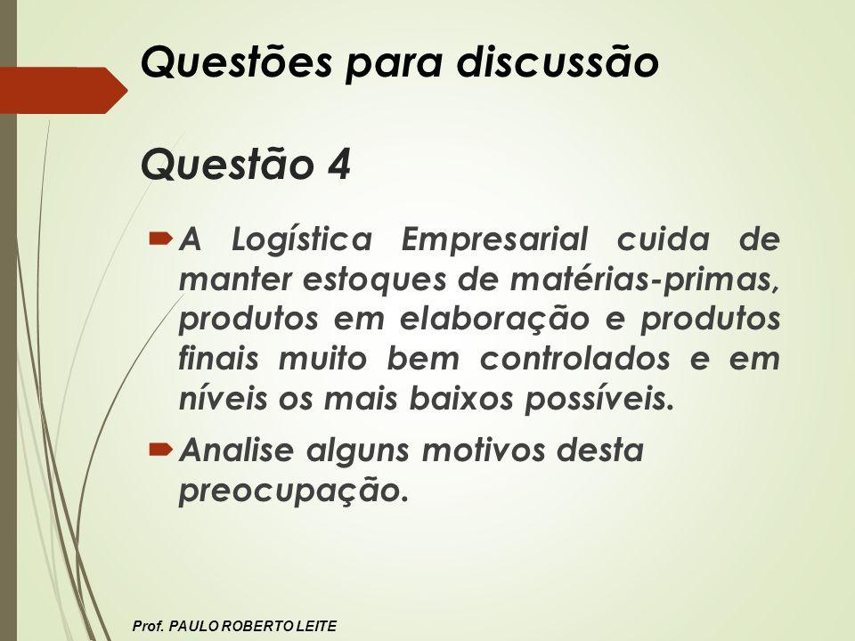 Questões para discussão Questão 4