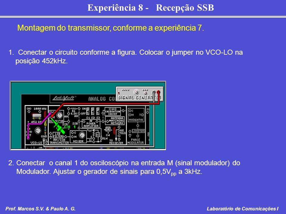 Montagem do transmissor, conforme a experiência 7.