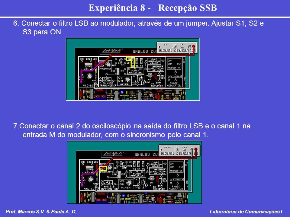 6. Conectar o filtro LSB ao modulador, através de um jumper