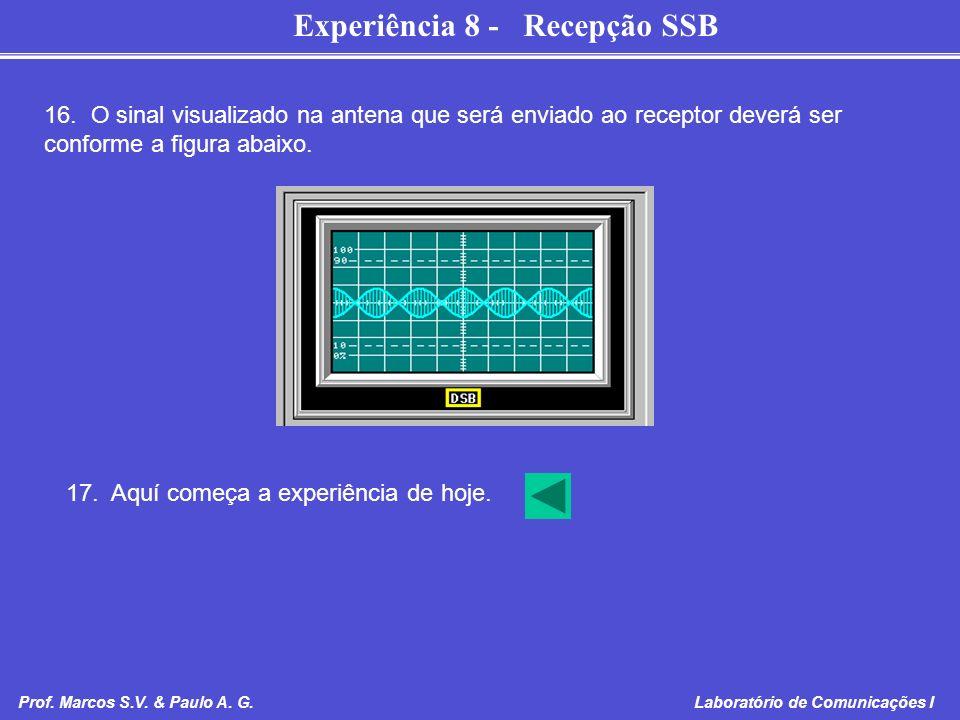 16. O sinal visualizado na antena que será enviado ao receptor deverá ser conforme a figura abaixo.