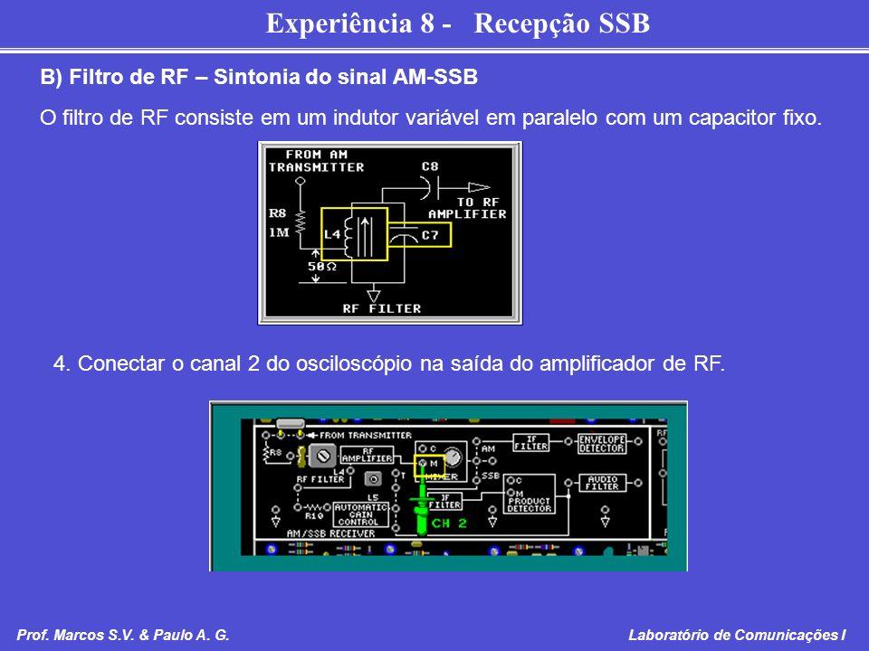B) Filtro de RF – Sintonia do sinal AM-SSB