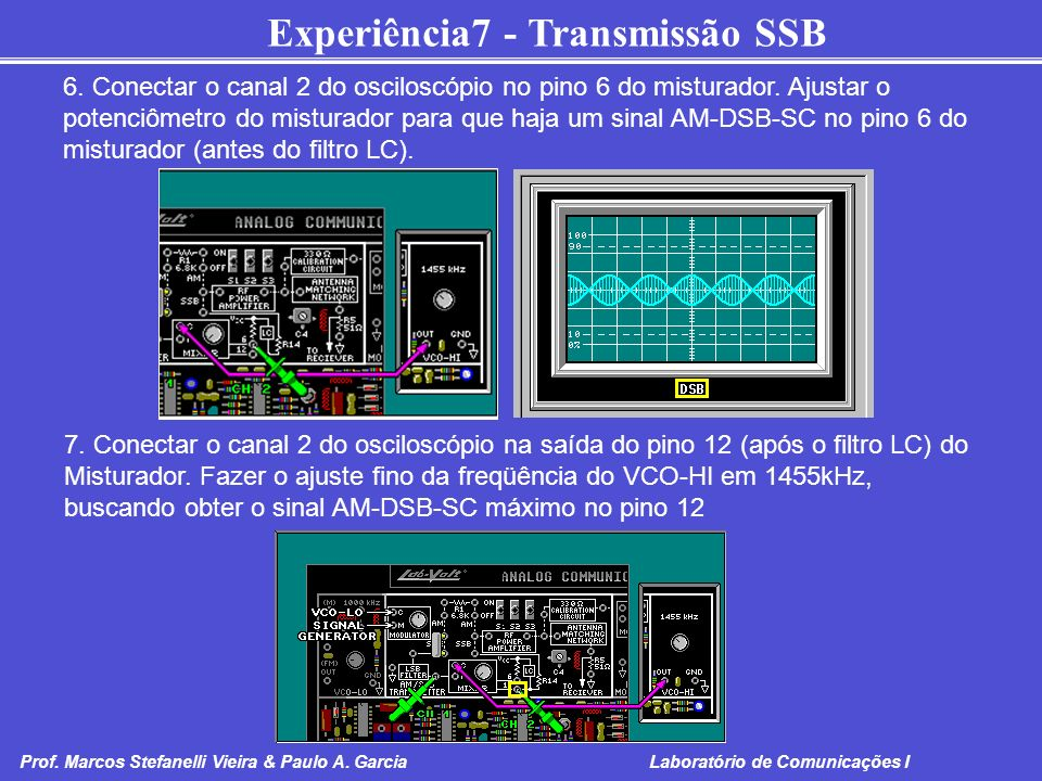 6. Conectar o canal 2 do osciloscópio no pino 6 do misturador