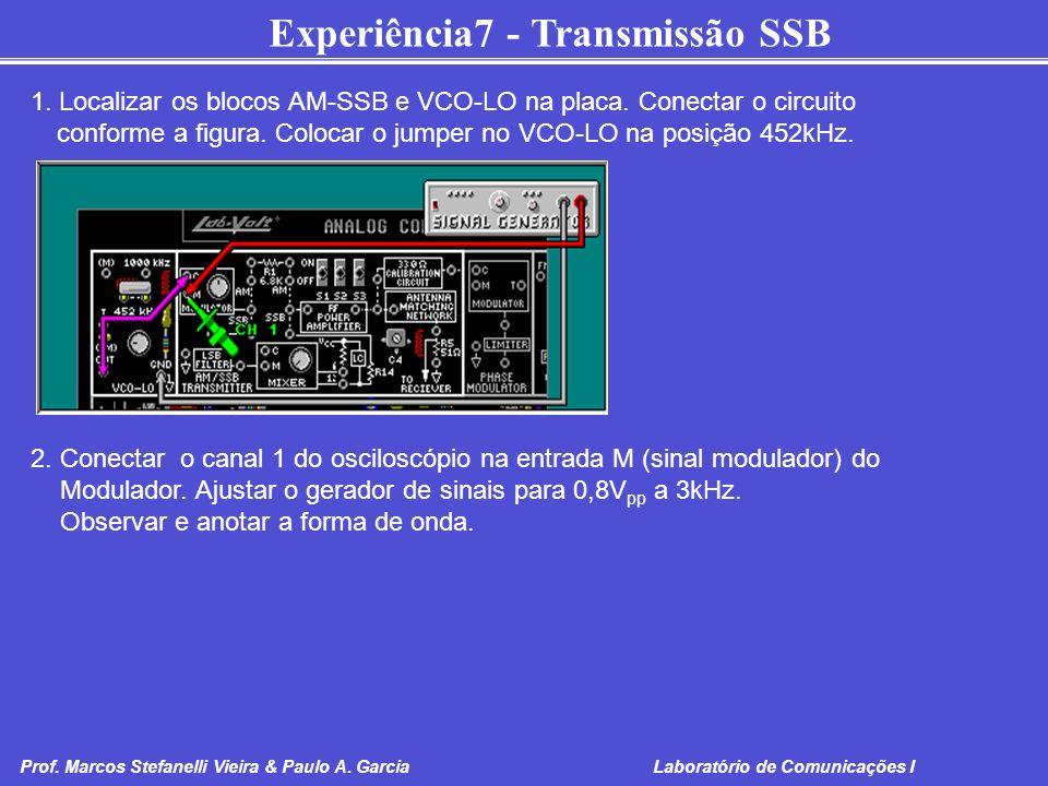 1. Localizar os blocos AM-SSB e VCO-LO na placa