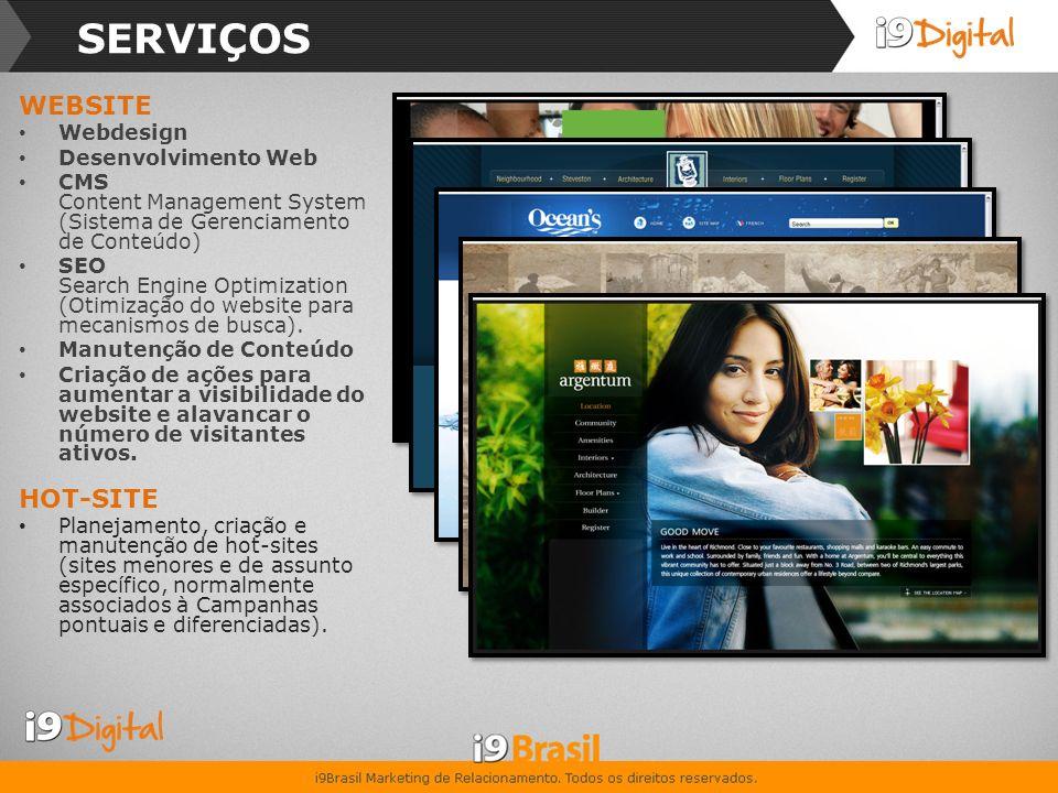 SERVIÇOS WEBSITE HOT-SITE Webdesign Desenvolvimento Web