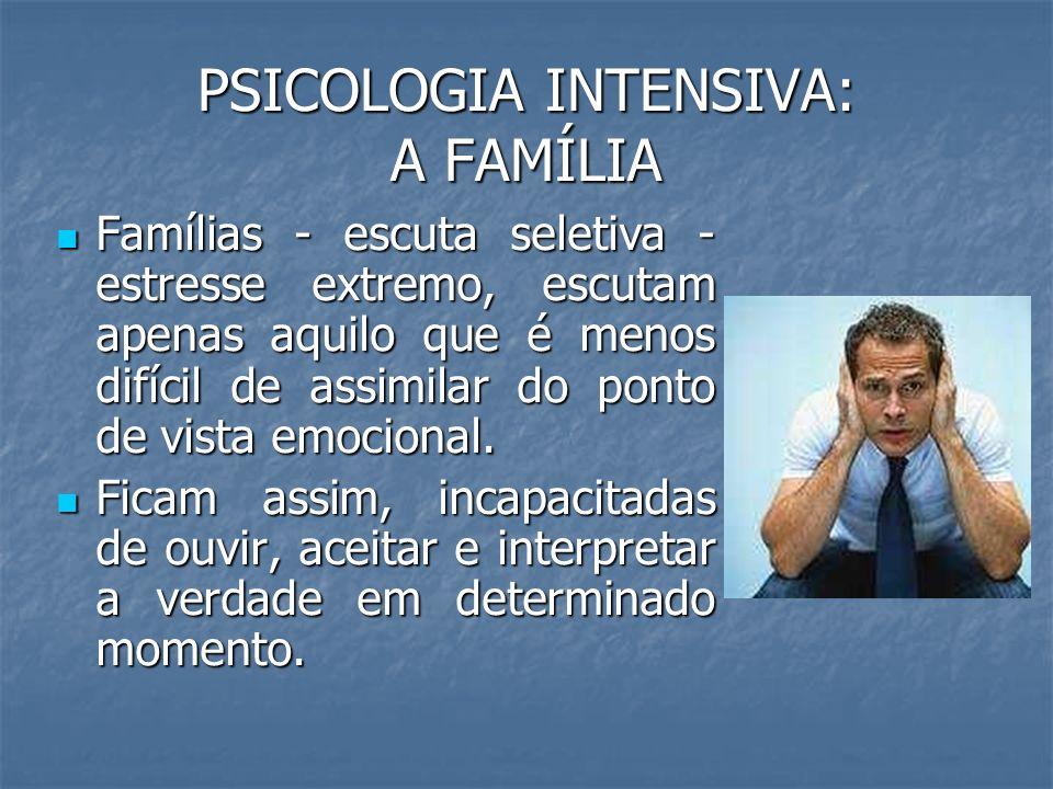 PSICOLOGIA INTENSIVA: A FAMÍLIA