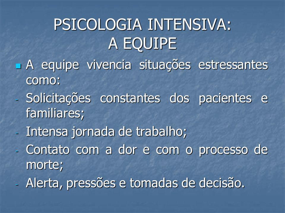 PSICOLOGIA INTENSIVA: A EQUIPE