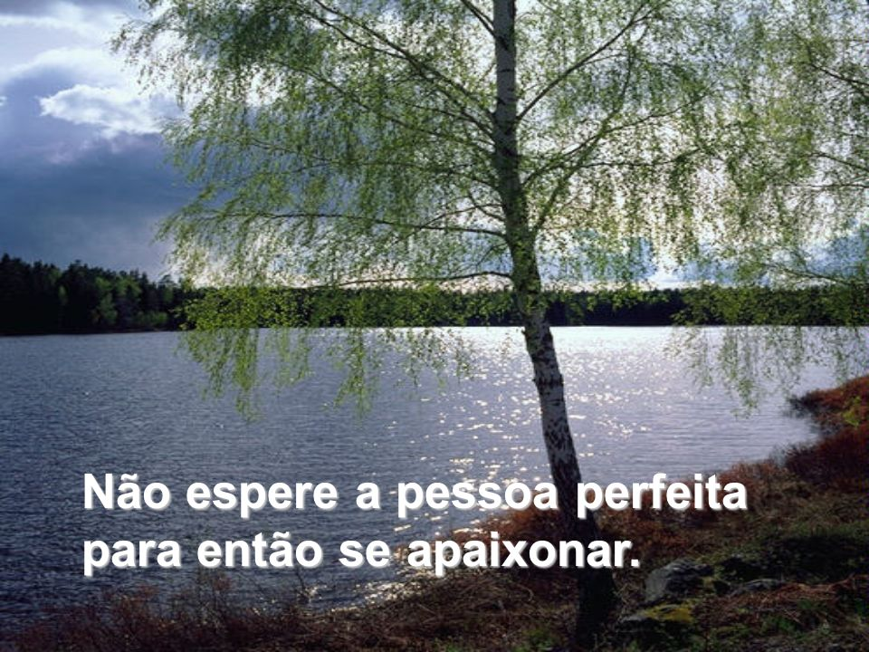 Não espere a pessoa perfeita