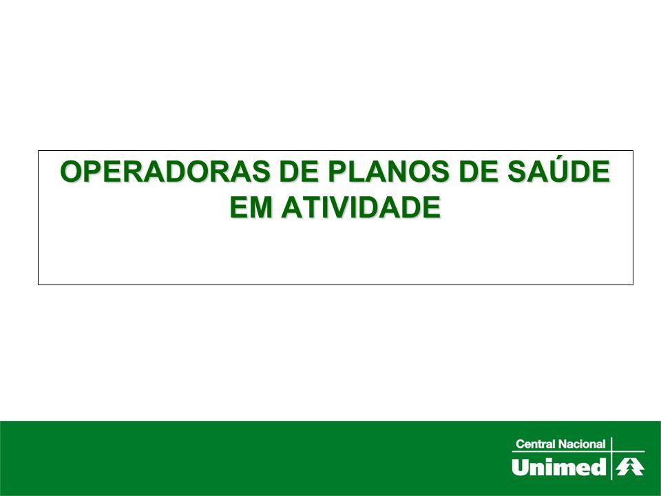 OPERADORAS DE PLANOS DE SAÚDE EM ATIVIDADE