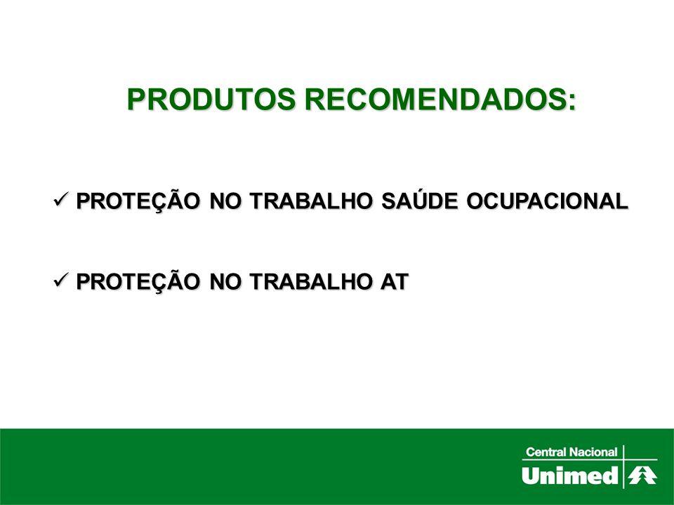 PRODUTOS RECOMENDADOS: