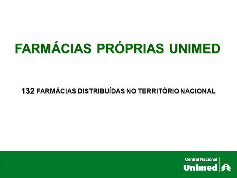 132 FARMÁCIAS DISTRIBUÍDAS NO TERRITÓRIO NACIONAL