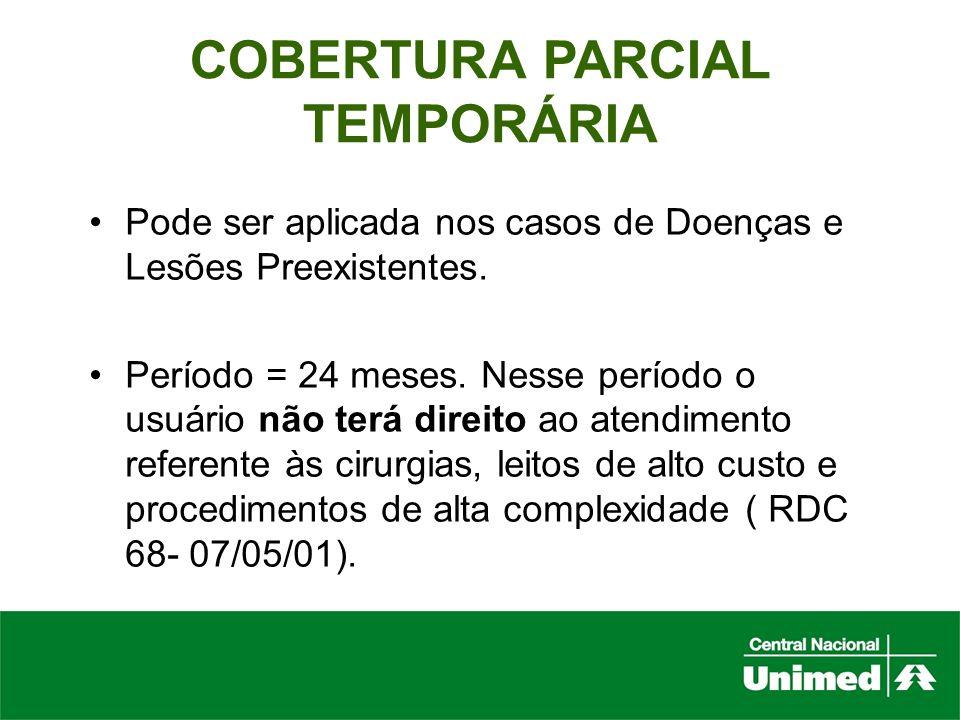 COBERTURA PARCIAL TEMPORÁRIA