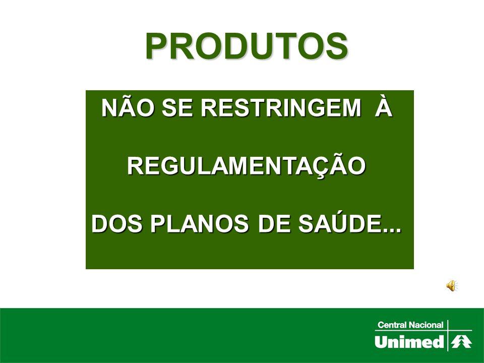 PRODUTOS NÃO SE RESTRINGEM À REGULAMENTAÇÃO DOS PLANOS DE SAÚDE...